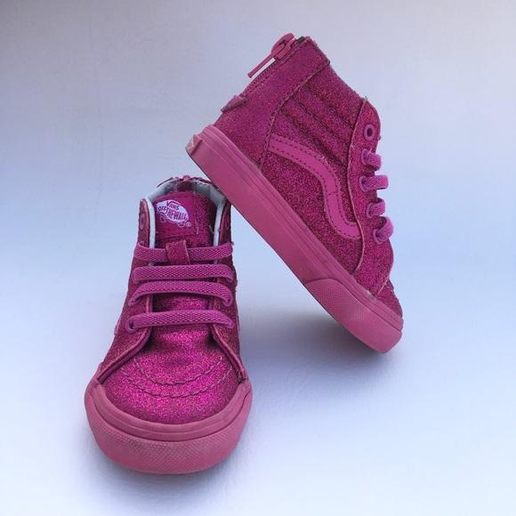 c6a37b9a0c ... Glittery high top Vans sneaker 🌸. M 5a74cc6b31a376117ba23dc8